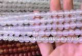 CAA3339 15 inches 8mm faceted round agate beads wholesale