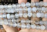CAA3342 15 inches 8mm faceted round agate beads wholesale