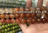 CAA3423 15 inches 14mm faceted round agate beads wholesale