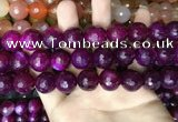 CAA3426 15 inches 14mm faceted round agate beads wholesale