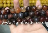 CAA3427 15 inches 14mm faceted round agate beads wholesale
