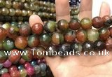 CAA3432 15 inches 14mm faceted round agate beads wholesale