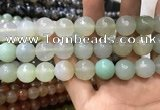 CAA3433 15 inches 14mm faceted round agate beads wholesale