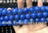 CAA3435 15 inches 14mm faceted round agate beads wholesale