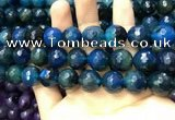 CAA3436 15 inches 14mm faceted round agate beads wholesale