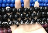 CAA3437 15 inches 14mm faceted round agate beads wholesale