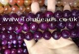 CAA3447 15 inches 16mm faceted round agate beads wholesale