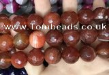 CAA3449 15 inches 16mm faceted round agate beads wholesale