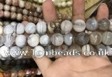 CAA3452 15 inches 16mm faceted round agate beads wholesale