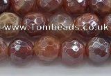 CAA3509 15.5 inches 6mm faceted round AB-color fire agate beads
