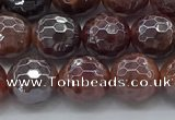 CAA3510 15.5 inches 8mm faceted round AB-color fire agate beads