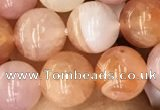 CAA3533 15.5 inches 8mm round pink botswana agate beads
