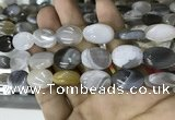 CAA3565 15.5 inches 13*18mm oval grey Botswana agate beads
