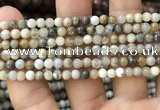 CAA3581 15.5 inches 4mm round ocean fossil agate beads wholesale