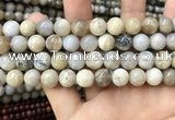 CAA3584 15.5 inches 10mm round ocean fossil agate beads wholesale