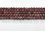 CAA3628 15.5 inches 4mm faceted round Portuguese agate beads