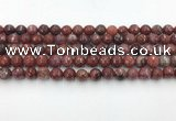 CAA3629 15.5 inches 6mm faceted round Portuguese agate beads