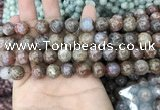 CAA3637 15.5 inches 6mm round flower agate beads wholesale
