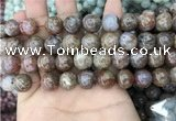 CAA3639 15.5 inches 10mm round flower agate beads wholesale