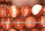 CAA3761 15.5 inches 6mm round red botswana agate beads wholesale