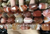 CAA3821 13*17mm - 18*22mm faceted nuggets line agate beads
