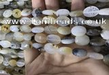 CAA3833 15.5 inches 8*12mm faceted oval montana agate beads