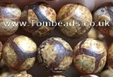 CAA3864 15 inches 8mm round tibetan agate beads wholesale