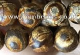 CAA3866 15 inches 8mm round tibetan agate beads wholesale