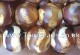 CAA3873 15 inches 8mm round tibetan agate beads wholesale
