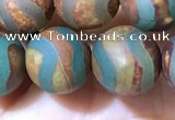 CAA3898 15 inches 10mm round tibetan agate beads wholesale