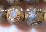 CAA3901 15 inches 10mm round tibetan agate beads wholesale