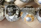 CAA3906 15 inches 10mm round tibetan agate beads wholesale