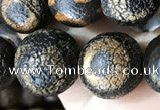 CAA3927 15 inches 12mm round tibetan agate beads wholesale