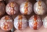 CAA3932 15 inches 8mm round tibetan agate beads wholesale