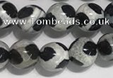 CAA3985 15 inches 6mm round tibetan agate beads wholesale