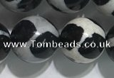 CAA3988 15 inches 12mm round tibetan agate beads wholesale
