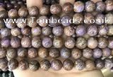 CAA4003 15.5 inches 10mm round purple crazy lace agate beads