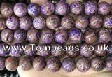 CAA4006 15.5 inches 16mm round purple crazy lace agate beads