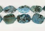 CAA4088 15.5 inches 33*40mm - 38*45mm freeform ocean agate beads