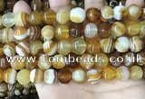 CAA4141 15.5 inches 10mm pumpkin line agate beads wholesale