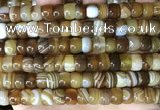 CAA4147 15.5 inches 6*9mm rondelle line agate beads wholesale