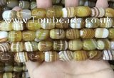 CAA4152 15.5 inches 10*14mm drum line agate beads wholesale