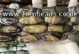 CAA4169 15.5 inches 14*40mm rice line agate beads wholesale