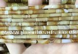 CAA4176 15.5 inches 4*13mm tube line agate beads wholesale