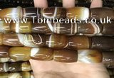 CAA4189 15.5 inches 15*25mm drum line agate gemstone beads