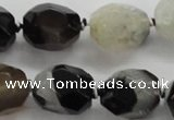 CAA443 15.5 inches 15*20mm faceted egg-shaped agate druzy geode beads