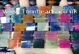 CAA4440 15.5 inches 12*16mm rectangle dragon veins agate beads