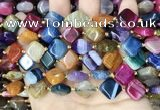 CAA4470 15.5 inches 12*12mm diamond dragon veins agate beads