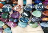 CAA4478 15.5 inches 18*25mm flat teardrop dragon veins agate beads