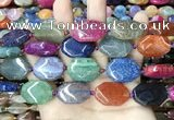 CAA4482 15.5 inches 18*25mm octagonal dragon veins agate beads